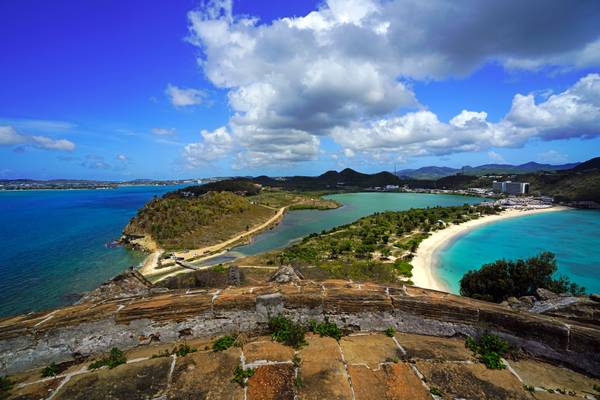 Fabulous view of Antigua island from Fort Barrington, Antigua & Barbuda