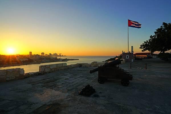 Sun setting over Havana from La Cabaña fortress, Cuba