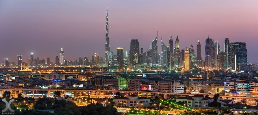 Dubai Skyline from Hilton Dubai Creek