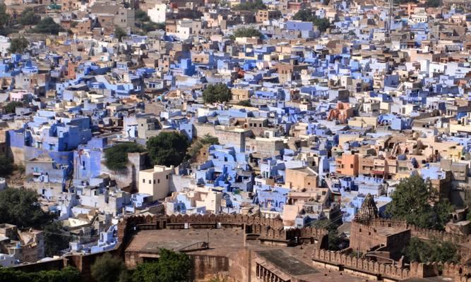 Jodhpur, the blue city, Rajasthan, India  - जोधाणा, उदैपर, भारत