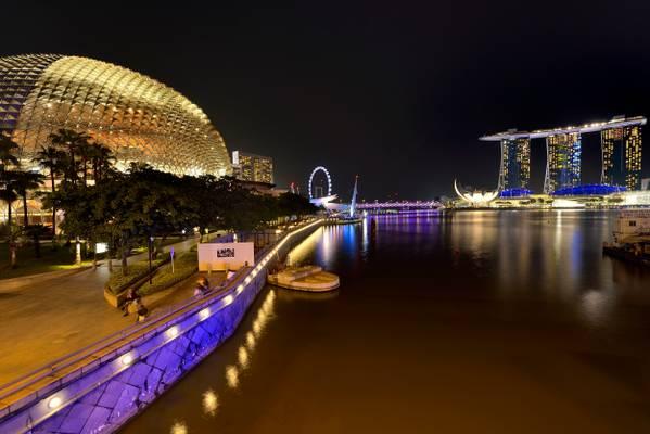 Esplanade Theatre and Marina Bay Sands - Singapore