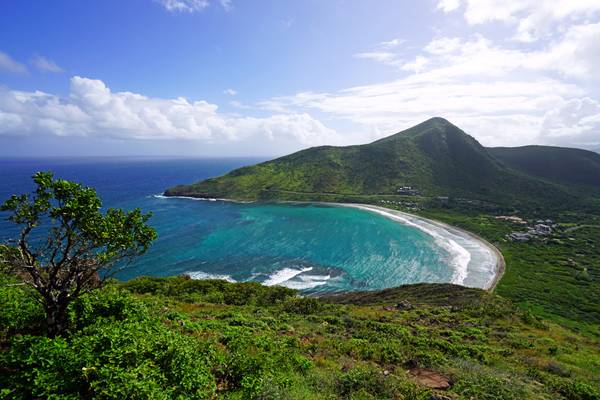 Gorgeous view from the hill over Christophe Harbour, St Kitts