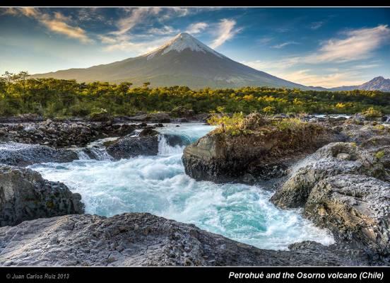 Petrohué and the Osorno volcano (Chile)