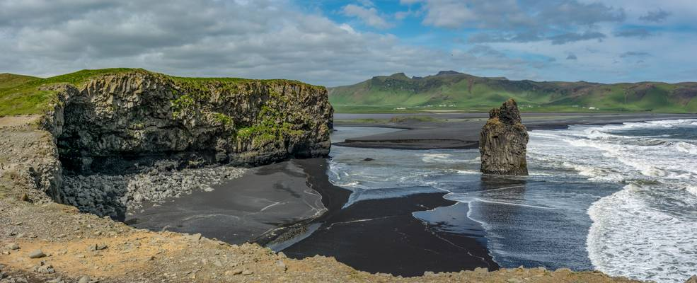 Black Beach Panorama