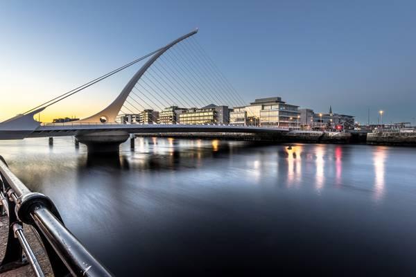 Samuel Beckett bridge at sunset, Dublin, ireland