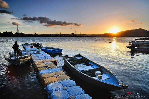 小碼頭落日 Sunset scenery