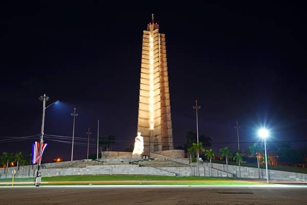 Havana by night. Plaza de la Revolución