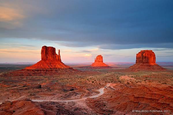 Monument Valley last light