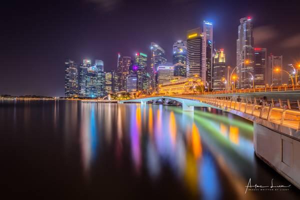 Bright Night At Marina Bay I