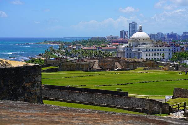 Puerto Rico State Capitol from San Cristóbal