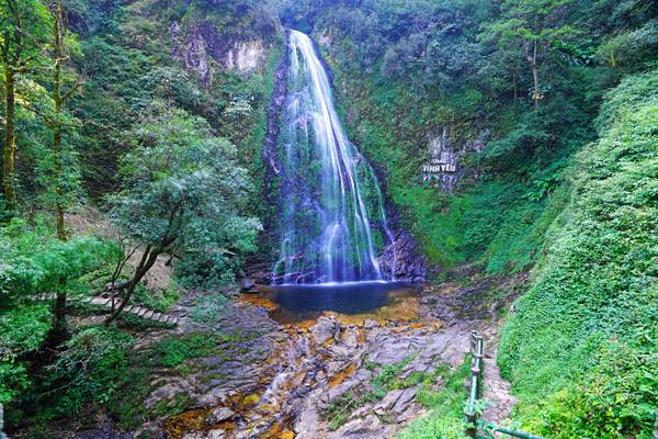 Full view of fabulous Love Waterfall, Sapa, Vietnam