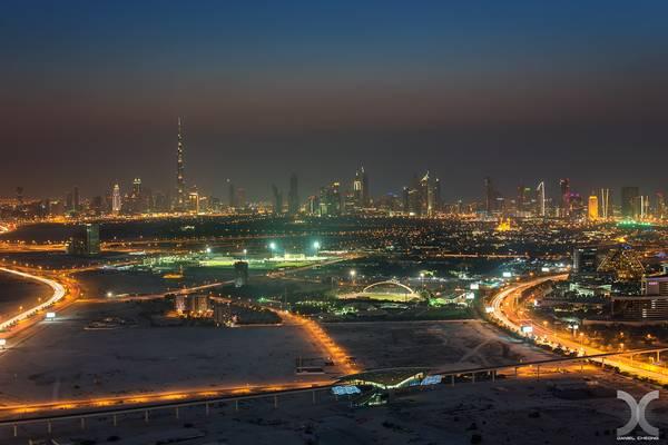 Dubai from D1 Tower
