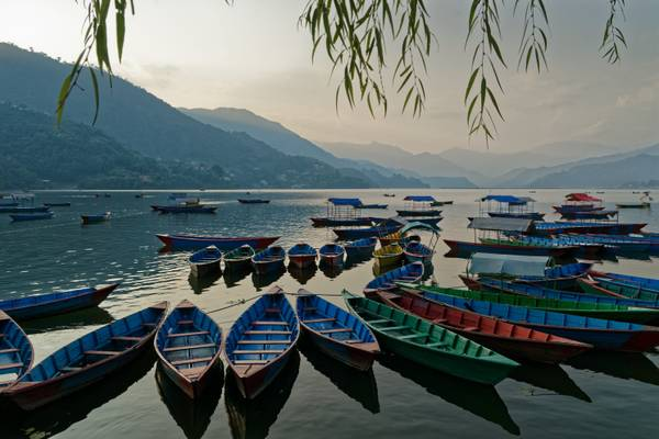 Boats on Lake Phewa, Pokhara