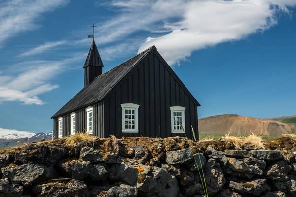 Budir Church from behind