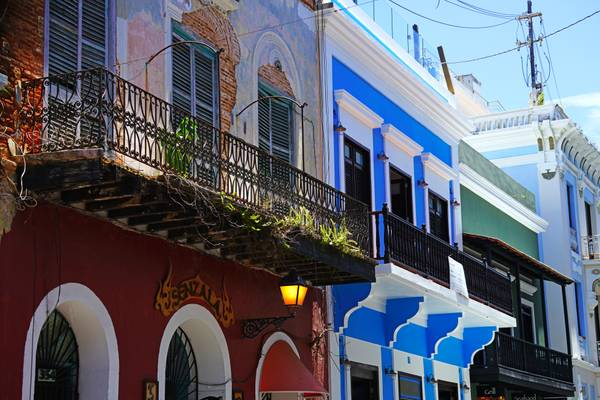 Picturesque decay of Old San Juan, Puerto Rico