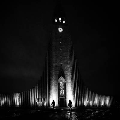 The Cathedral - Reykjavik, Iceland - Black and white street photography
