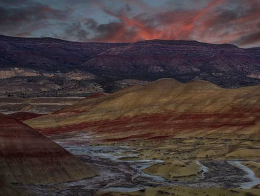 Painted Hills at sunset, Oregon