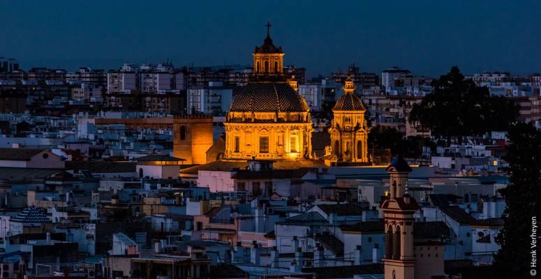 Sevilla at night from Metropol Parasol