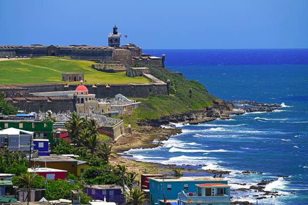 El Morro seen from San Cristobal, Puerto Rico