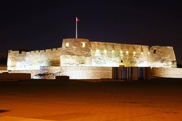 Bahrain by night. Arad Fort