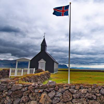 Buðir Church from North
